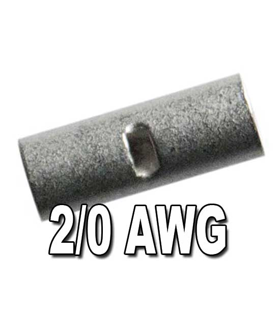 Non-Insulated Seamless Butt Connectors  2/0 AWG