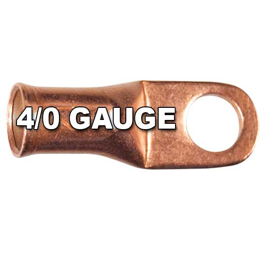 4/0 AWG Seamless Tubular Copper Lugs with Flared Ends