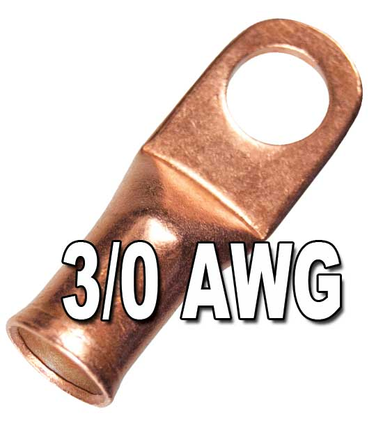 H.D. Seamless Copper Lugs with Flared Ends